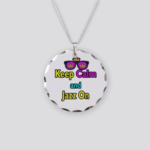 Crown Sunglasses Keep Calm And Jazz On Necklace Ci